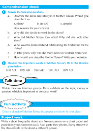 biography for mother literature grade 8 biography mother teresa 5 english literature