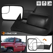 towing mirrors for dodge ram 3500 98 01 dodge ram 1500 98 02 2500 3500 extend flip up power heated