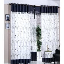 Blue And White Floral Curtains Black And White Floral Curtains For Bedroom Black White Floral