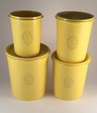 yellow canister sets kitchen tupperware plastic kitchen canister sets ebay