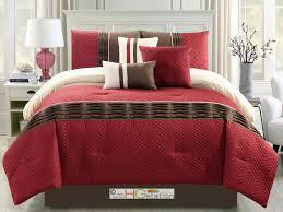 Kinsley Chevron Bedroom Set Gray Red Plaid Queen Comforter Set