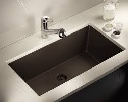 Mocha Large Single Bowl Undermount TruGranite Kitchen Sink - Single undermount kitchen sinks