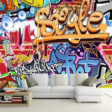 graffiti chambre europe vintage boy wallpaper graffiti photo wall mural