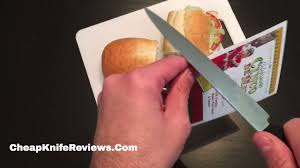spyderco kitchen utility knife review hoagie test youtube