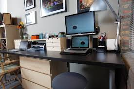 Homes Decorated Cool Ikea Home Office Ideas For Small Space Alocazia Furniture