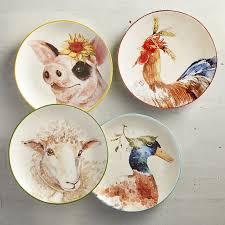 farm animals salad plate set of 4 pier 1 imports