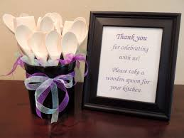 wooden party favors bridal shower favors for guests take a wooden spoon for