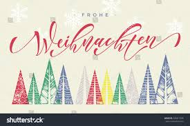 merry christmas modern frohe weihnachten colorful german winter holiday stock vector