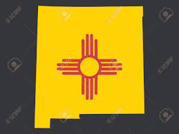 Map Of New Mexico by Map Of The State Of New Mexico And Their Flag Royalty Free