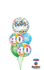 40th birthday balloons delivery cheerful balloon bouquet 40th birthday time party time