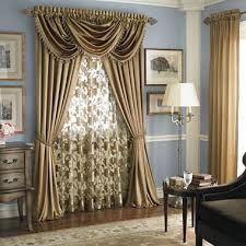 Gold Color Curtains This Is The Idea To A Sheer Then Drapes That Tie Back With