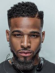 blowout hairstyles for black men a line in the side haircut black man hairstyle pinterest black man haircuts