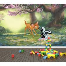 pro art bambi curious creatures full wall mural childsmart pro art bambi curious creatures full wall mural