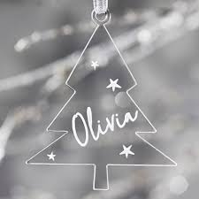 personalised christmas tree decoration by sophia victoria joy