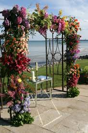 wedding arch nyc colorful chuppah from ariston flowers nyc mazelmoments