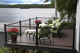 modern veranda railing ideas cable metal and glass deck