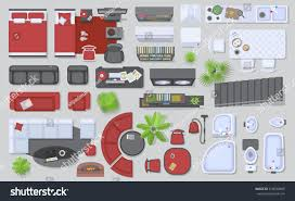 icons set interior top view isolated stock vector 518830609