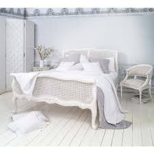 provencal white rattan bed king size french bed rattan and