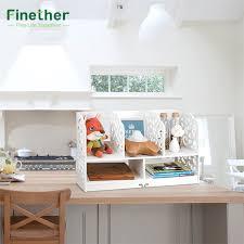 Desk Organizer Shelves Finether 2 Tier Cut Out Wood Plastic Composite Shelf Unit Desktop