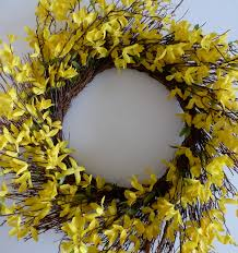 forsythia wreath last minute easter wreath design improvised