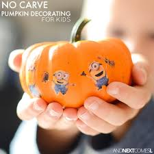 Small Pumpkins Decorating Ideas No Carve Pumpkin Idea For Kids Decorate Mini Pumpkins With
