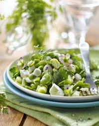 cuisiner des f钁es fraiches salade aux fèves fraîches herbes et feta régal