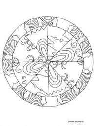 mandala coloring pages doodle art alley