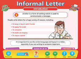 xiscoenglish the future how to write an informal letter
