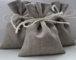 linen favor bags grey favor bags etsy