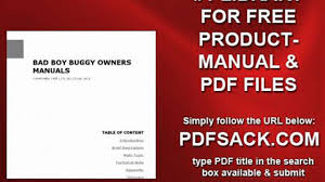bad boy buggy owners manuals video dailymotion