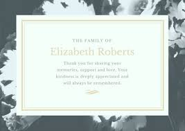 Employee Or Relative Death Announcement Letter Template Funeral Thank You Card Templates Canva