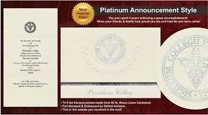 college announcements providence college graduation announcements providence college