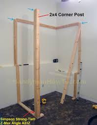 how to build a basement closet