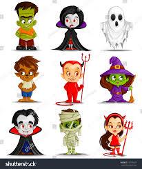 Free Halloween Icons Vector Illustration Halloween Monster Costume Stock Vector