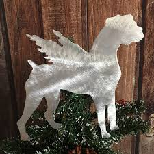 boxer angel dog guardian angel christmas tree topper pet