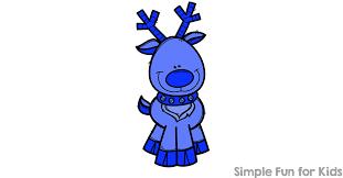 5 reindeer color matching clip cards simple fun kids