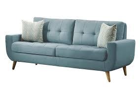 Blue Sofa Set Amazon Com Homelegance Deryn Mid Century Modern Sofa With Tufted