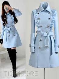 light blue trench coat blue double breasted trench coat