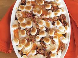 sweet potato casserole with pears marshmallows recipe myrecipes