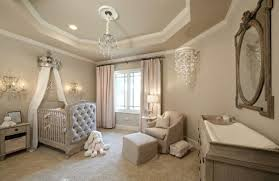 chambre enfant luxe décoration pour la chambre de bébé fille couleurs naturelles en