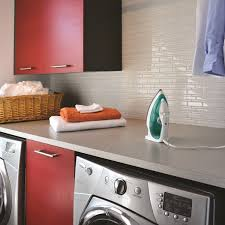 decor modern laundry room cabinets with peel and stick mosaic