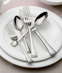 modern silverware lenox portola modern sculpted 65 piece stainless steel flatware