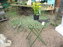 Metal Garden Chairs And Table French Ornate Antique Green Wrought Iron Metal Garden Table And