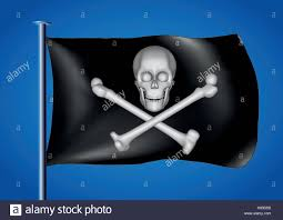 Scottish Pirate Flag Jolly Roger Stock Vector Images Alamy