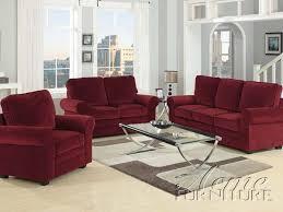 velvet sofa set acme furniture chantel red velvet 3 piece sofa set 15175