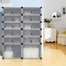 amazon com langria 12 cube diy shoe rack multi use modular