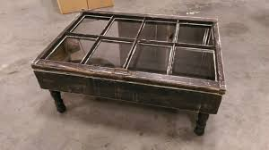 furniture rustic coffee table on wheels wood and glass coffee