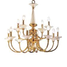 Classic Chandelier by Shop Classic Lighting Spanish Ceramic 30 In 12 Light Polished