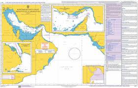 Map Of Persian Gulf Chart Q6111 Maritime Security Chart Persian Gulf And Arabian Sea