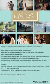 Photography Wedding Packages Mike Chen Photography Wedding Packages 2016 Wedding Photography